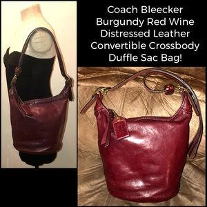 Coach Bleecker Leather Crossbody Duffle Sac Bag!